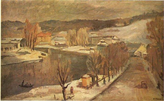 Витаутас Мацкявичюс. Первый снег. 1946 г.