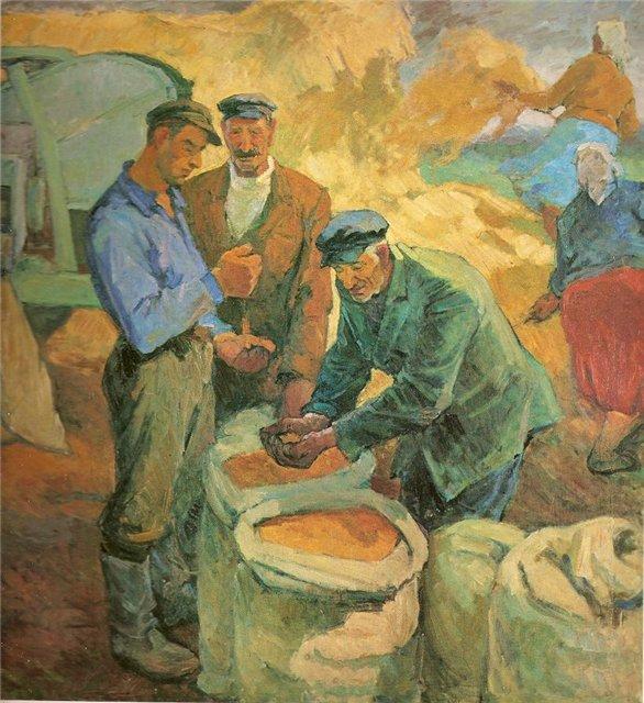 Алдона Грицюнайте. Урожай. 1962 г.