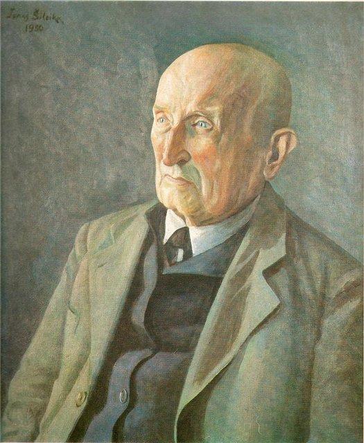 Йонас Шилейка. Портрет художника З. Пятравичюса. 1950 г.