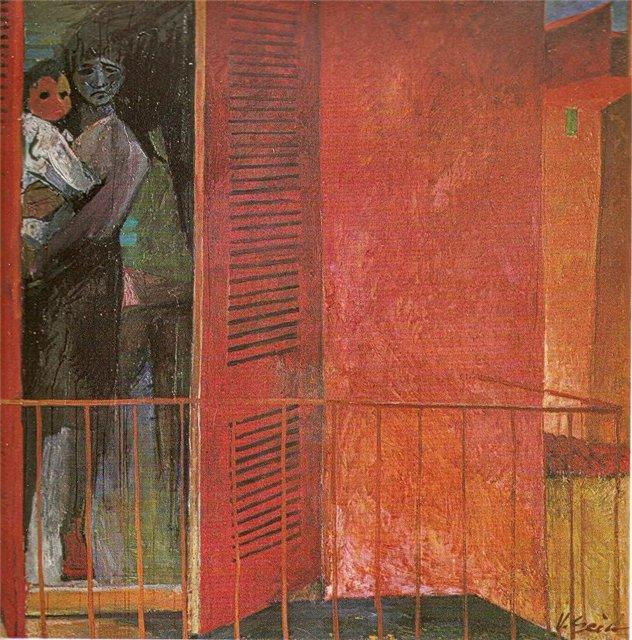 Винцас Гячас. На балконе. 1966 г.