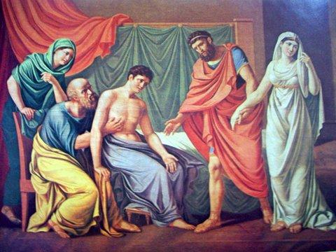 Юозас Олешкявичюс. Антиох и Стратоника 1810 г.