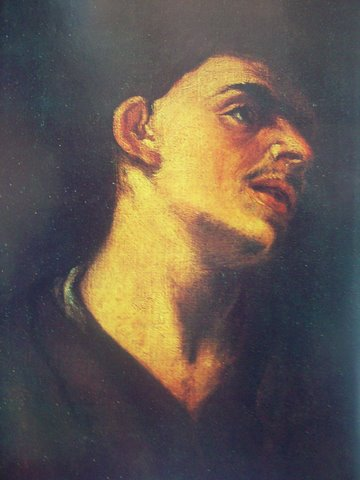 Йонас Кристопорас Дамелис . Студия головы молодого мужчины.