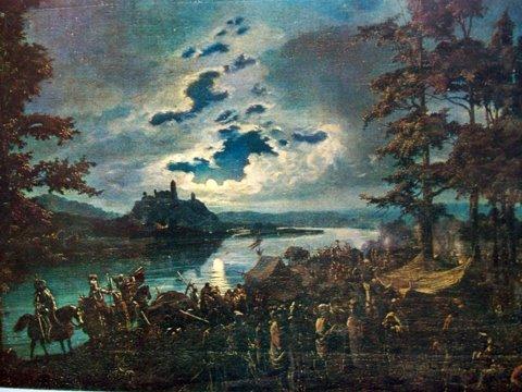Винцас Дмахаускас. Крестоносцы нападают на замок Пунии 1837 г.