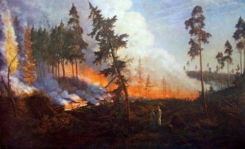 Винцас Дмахаускас. Пожар в лесу 1850 г.