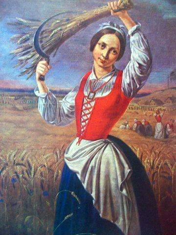 """Канутас Русяцкас. """"Жница"""". 1844"""