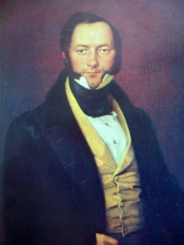 Валентинас Ванкавичюс. Мужчина в жёлтой жилетке. 1836