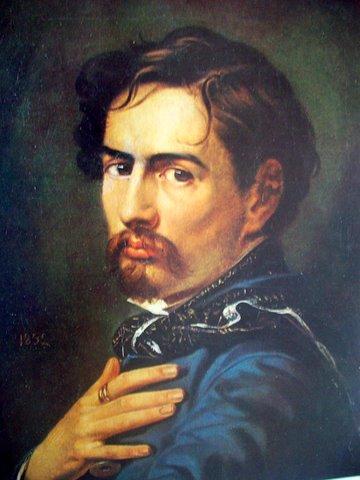 """Болесловас Русяцкас. """"Автопортрет"""". 1852"""