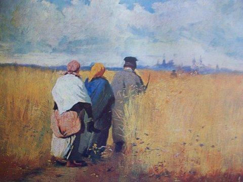 """Юозас Балзукявичус. """"По полю ржаному"""" 1895 г."""