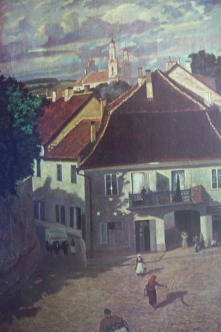 Пранас Юрьявичюс. Вильнюс, улица Даукши. 1896г.