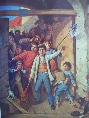 Иван Трутнев. Сцена революции 1905 г. в Вильнюсе.