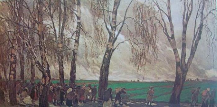 Фердинанд Рушиц. Изгнанники. 1902.