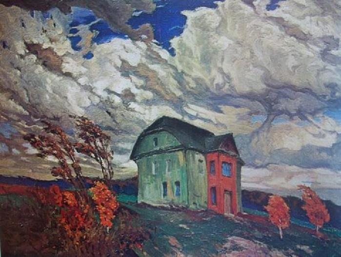 Фердинанд Рушиц. Пустота. Осенний ветер. 1901.