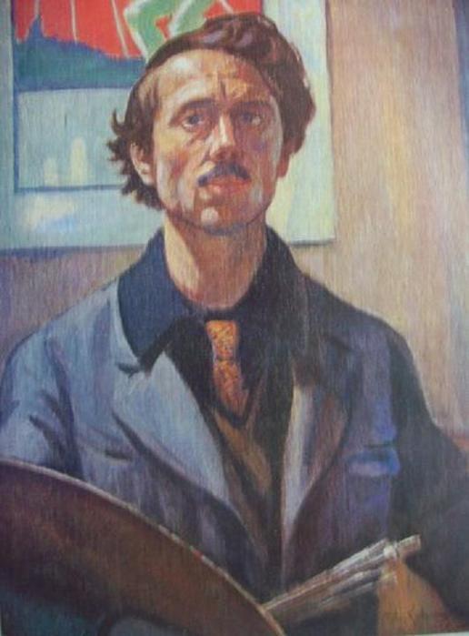 Пятрас Калпокас. Автопортрет. 1921г.