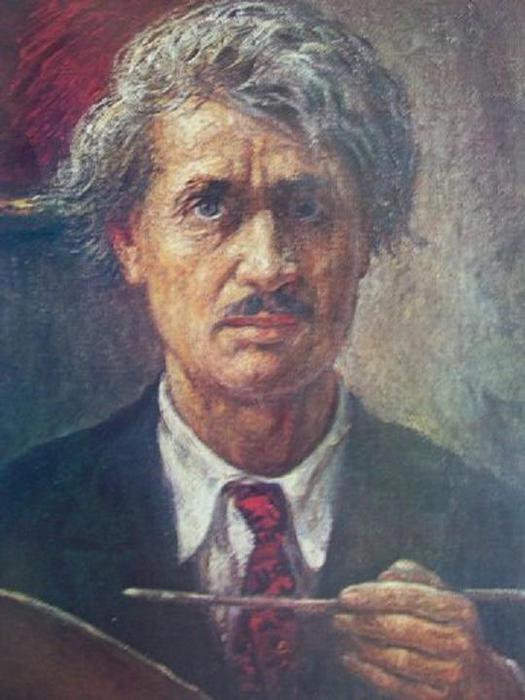 Пятрас Калпокас. Автопортрет. 1935-1939.