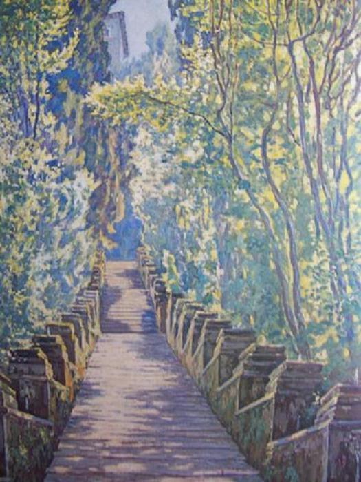 Пятрас Калпокас. Лестница в Триволи. 1927.
