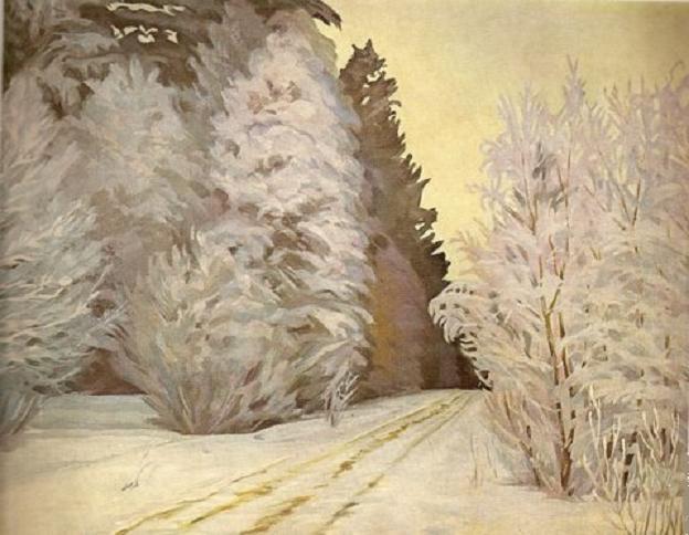 Владас Диджёкас. Лес зимой. 1938 г.
