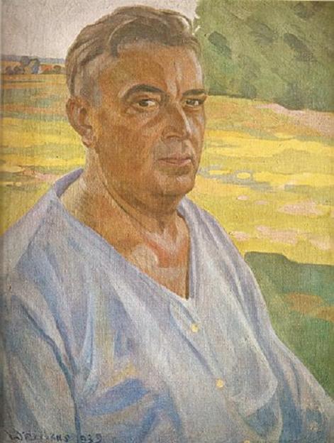 Владас Диджёкас. Автопортрет. 1939 г.