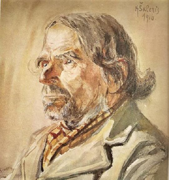 Каетонас Склерюс. Старый эстонец. 1913 г.