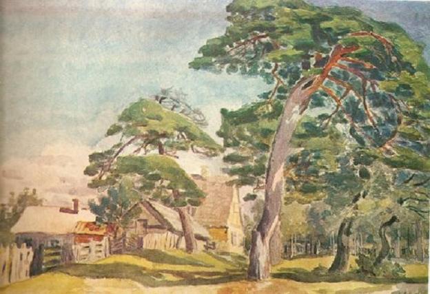 Каетонас Склерюс. Палангские сосны. 1922 г.
