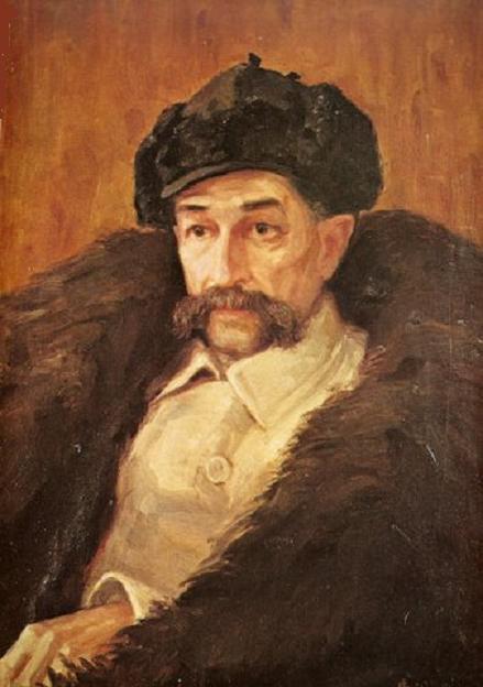Антанас Жмуйдзинавичюс. Портрет археолога Т. Даугирдаса. 1910 г.