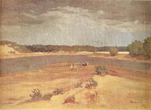Антанас Жмуйдзинавичюс. Неман во время бури. 1917 г.