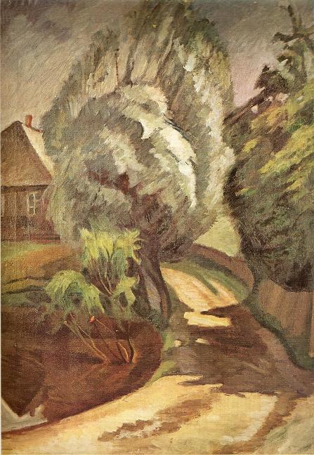 Юстинас Веножинскис. Родная усадьба. 1927 г.