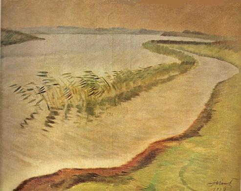 Юстинас Веножинскис. Дождливый день. 1928 г.