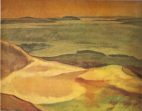 Юстинас Веножинскис. Набережная островов озера. 1928 г.