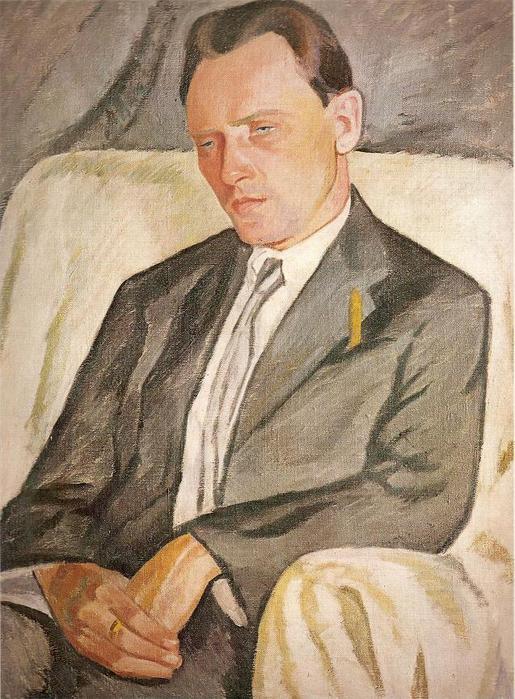 Юстинас Веножинскис. Портрет историка искусства П. Галауне. 1928 г.