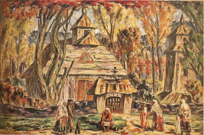 Адомас Гальдикас. Церквушка в Шалтраминай. 1927 г.