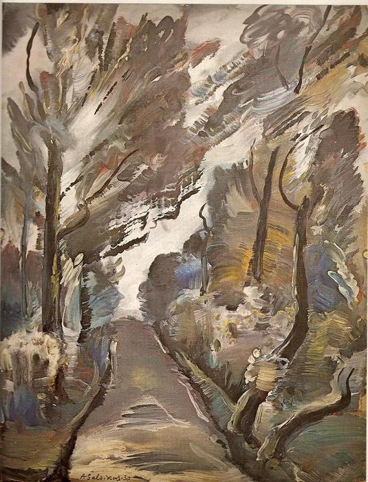 Адомас Гальдикас. Аллея в парке. 1930 г.