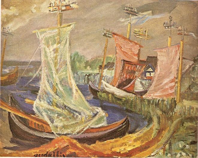 Антанас Гудайтис. Рыболовные катера. 1937 г.