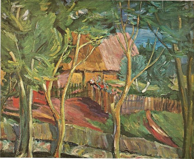 Антанас Гудайтис. Усадьба у озера. 1939 г.