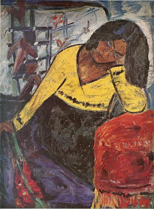 Антанас Самуолис. Желтая женщина. 1934 г.