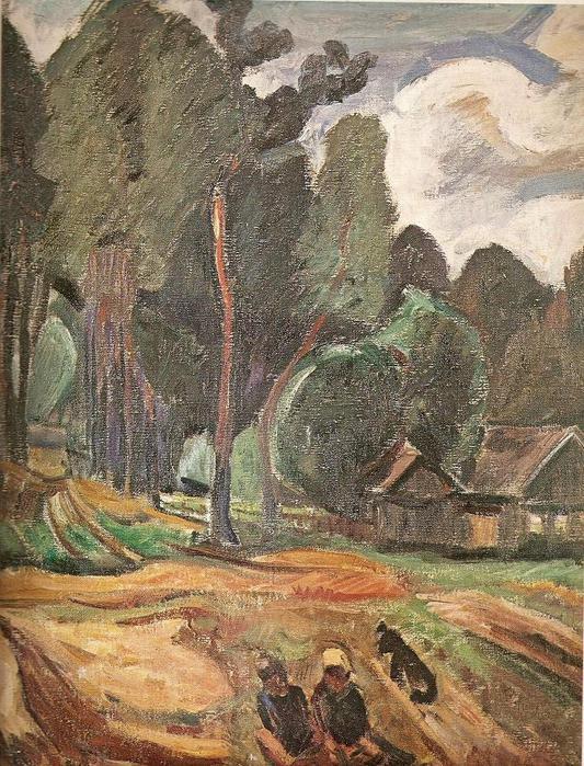Антанас Самуолис. Усадьба у леса. 1936 г.