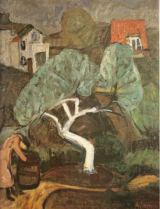 Антанас Самуолис. Белая яблоня. 1931-1932 гг.