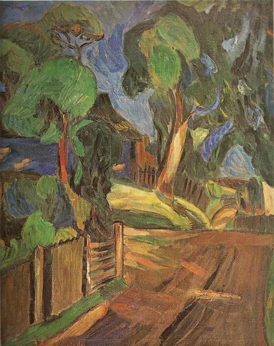 Викторас Визгирда. Дорога через деревню. 1937 г.