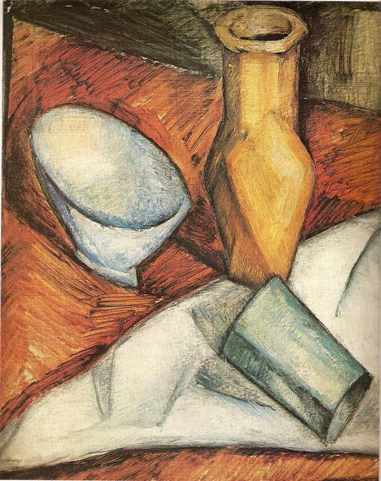 Витаутас Кайрюкштис. Натюрморт с желтой вазой. 1921 г.