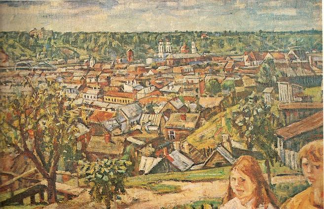 Владас Ейдукявичюс. Вид Каунаса с Жалякальниса Зеленой горы. 1933 г.