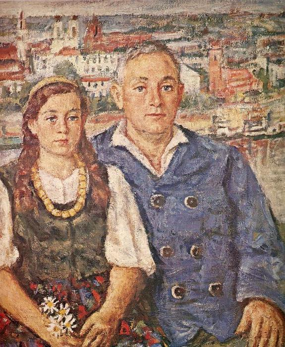 Владас Ейдукявичюс. Отец с дочерью. 1938 г.
