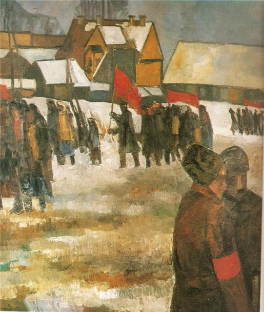 Аугустинас Савицкас. Октябрь в Литве. 1967 г.