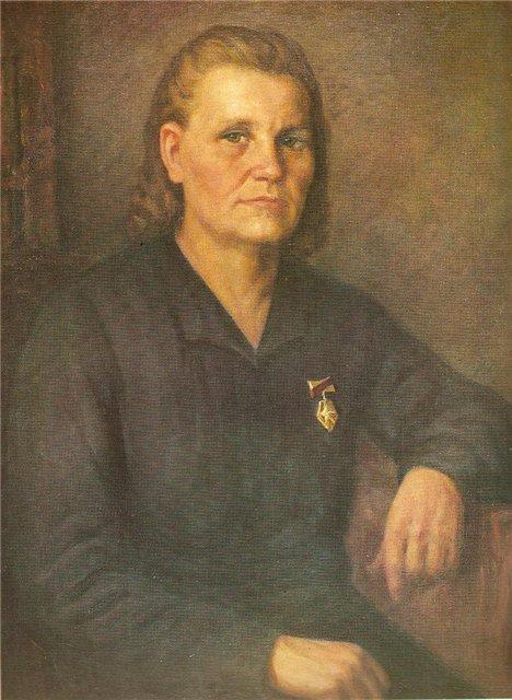 Йонас Янулис. Мать-героиня А. Жалалене. 1949 г.