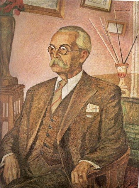 Юстинас Веножинскис. Портрет дирижера М. Букши. 1948 г.