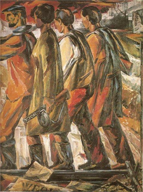 Леонардас Пяткявичюс. Возвращение партизан. 1967 г.