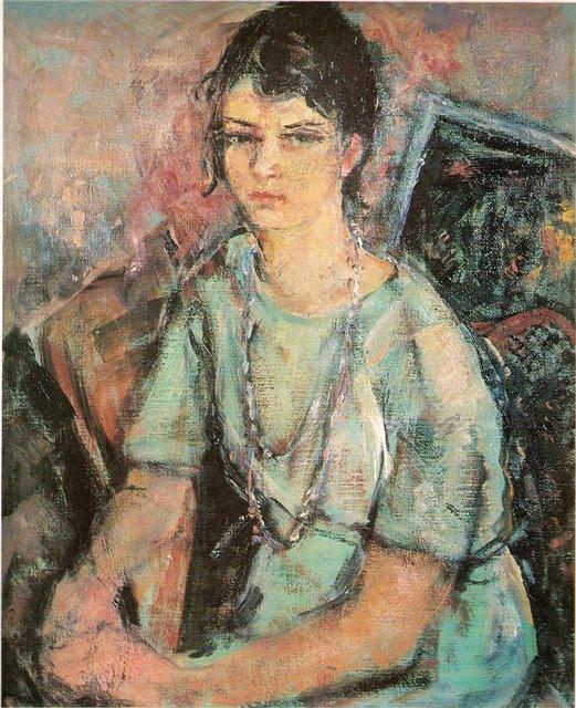 Мария Цвиркеке. Поэтесса Вю Пальчинскайте. 1962 г.