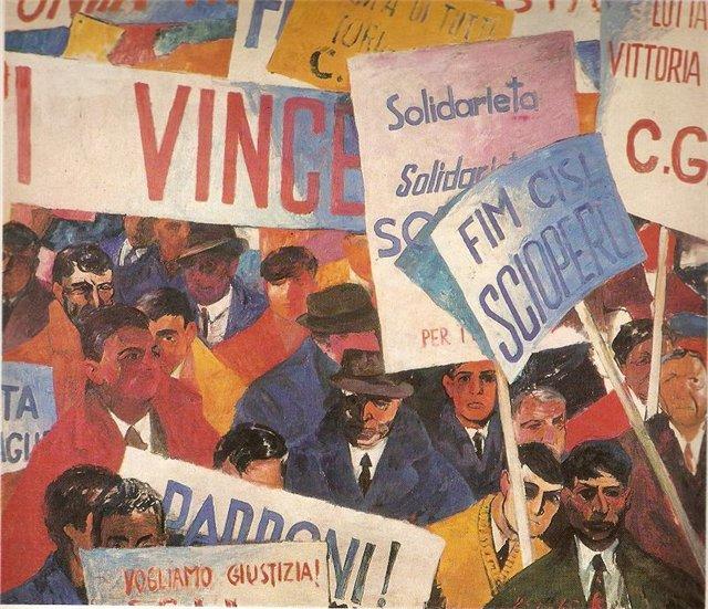 Винцас Гячас. Демонстрация безработных. 1965 г.