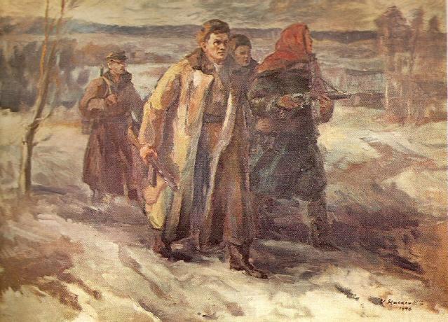 Витаутас Мацкявичюс. Партизаны. 1946 г.