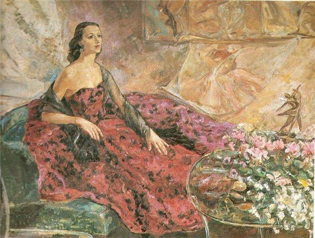 Ирена Тречёкайте-Жебенкене. Балерина Г. Сабаляускайте. 1959 г.