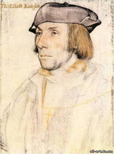 6. Г. Гольбейн. Портрет Томаса Элиота. Около 1530. Рисунок